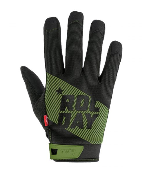 Evo green mountain bike gloves F